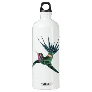 Colorful Hummingbird Aluminum Water Bottle
