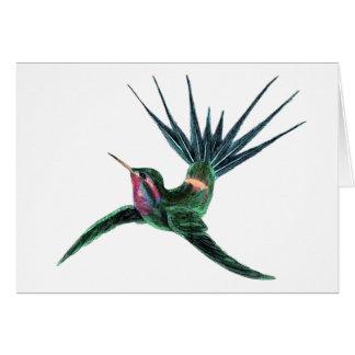 Colorful Hummingbird Card