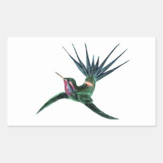 Colorful Hummingbird Rectangular Sticker