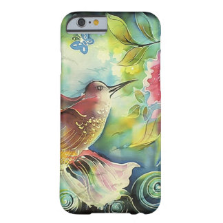 Colorful Hummingbird Silk Art Painting Barely There iPhone 6 Case