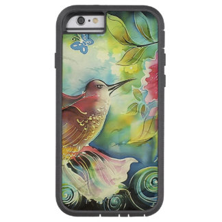 Colorful Hummingbird Silk Art Painting Tough Xtreme iPhone 6 Case
