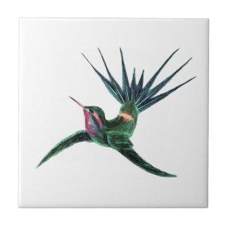 Colorful Hummingbird Tile