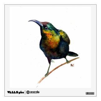 colorful hummingbird wall decal