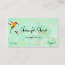 Colorful Hummingbirds Business Card