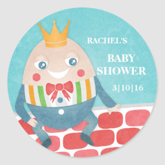 Colorful Humpty Dumpty Baby Shower Stickers