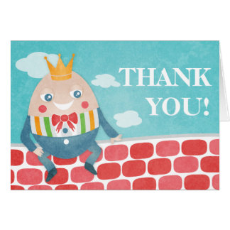 Colorful Humpty Dumpty Baby Shower Thank You Card