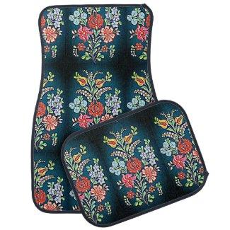 colorful Hungarian floral pattern Car Floor Mat