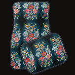 colorful Hungarian floral pattern Car Floor Mat