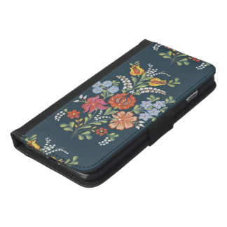 Colorful Hungarian Flowers iPhone 6/6s Plus Wallet Case