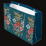 Colorful Hungarian Flowers Large Gift Bag