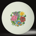 Colorful Hungarian flowers Ping Pong Ball