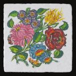 Colorful Hungarian flowers Trivet