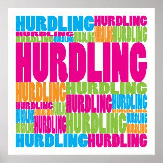 Colorful Hurdling Posters