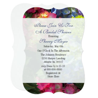 Colorful Hydrangea Bridal Shower Invitations