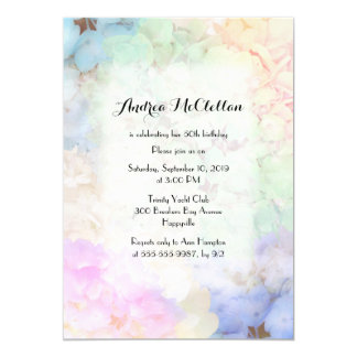 Colorful Hydrangea Floral Birthday Party Invite