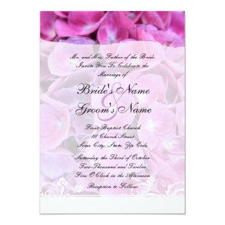 Colorful Hydrangea Flowers Wedding Invitation