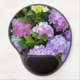 colorful hydrangea gel mouse pad