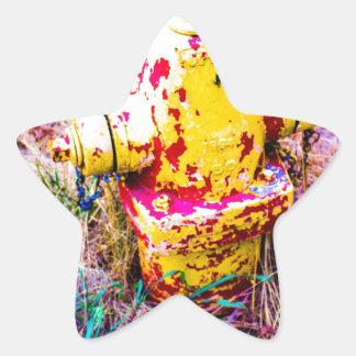 Colorful Hydrant Star Sticker