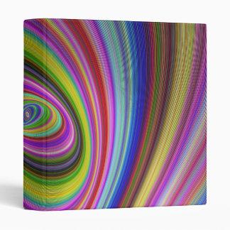 Colorful Hypnosis 3 Ring Binder