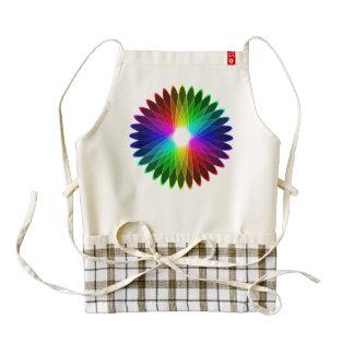 Colorful hypnotic star zazzle HEART apron