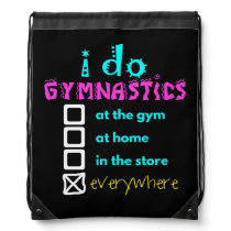 Colorful - I Do Gymnastics Everywhere Drawstring Backpack