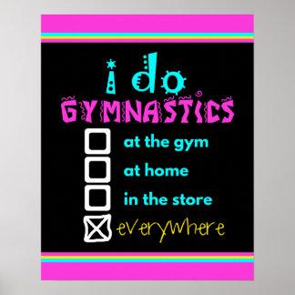 Colorful - I Do Gymnastics Everywhere Poster