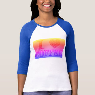 colorful i-heart coffee bean t-shirt