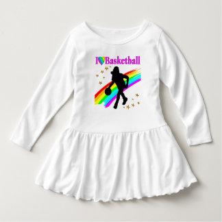 COLORFUL I LOVE BASKETBALL DESIGN DRESS