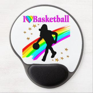 COLORFUL I LOVE BASKETBALL DESIGN GEL MOUSE PAD
