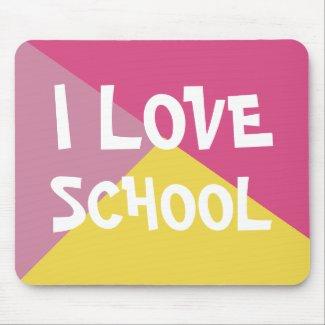 Colorful I Love School Girl Pink custom Text