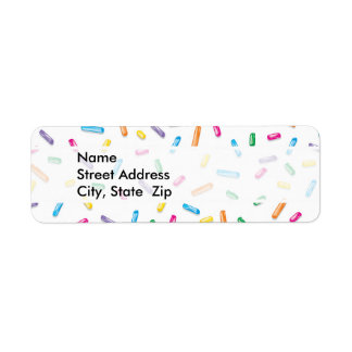 Colorful Ice Cream Candy Sprinkles Label