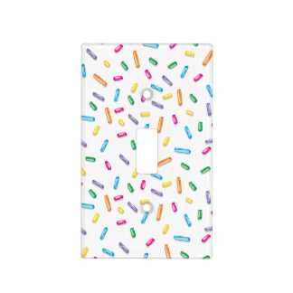 Colorful Ice Cream Candy Sprinkles Light Switch Cover