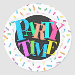 Colorful Ice Cream Candy Sprinkles Classic Round Sticker