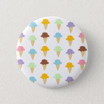 Colorful Ice Cream Cones Button