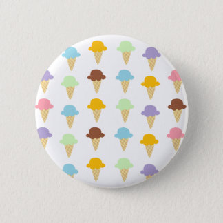Colorful Ice Cream Cones Button