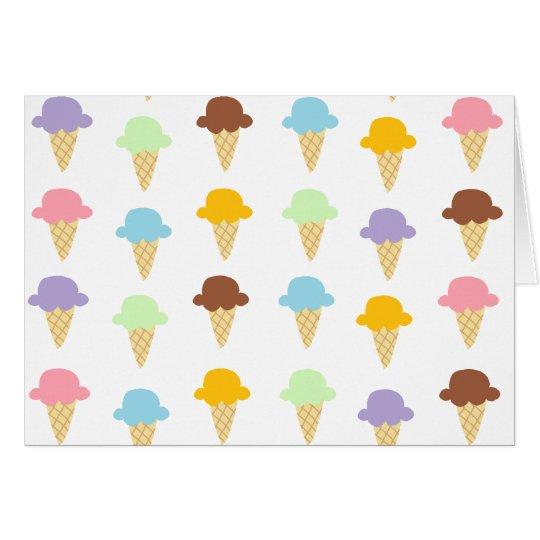 Colorful Ice Cream Cones Card
