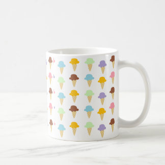 Colorful Ice Cream Cones Classic White Coffee Mug