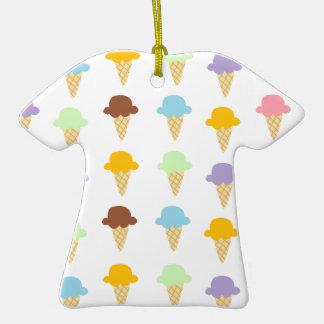 Colorful Ice Cream Cones Ornament