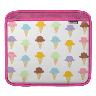 Colorful Ice Cream Cones Sleeve For iPads
