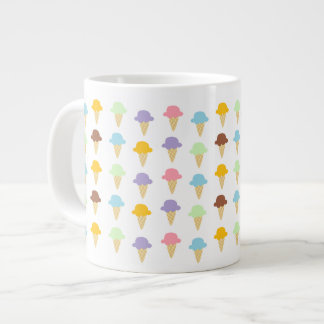 Colorful Ice Cream Cones 20 Oz Large Ceramic Coffee Mug