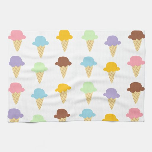 Colorful Ice Cream Cones Towel