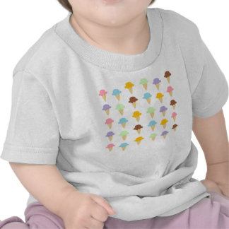 Colorful Ice Cream Cones Tee Shirt