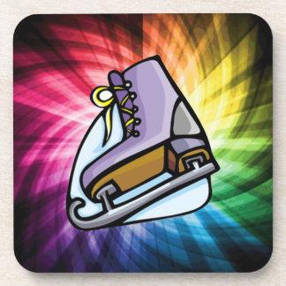 Colorful Ice Skate Beverage Coaster