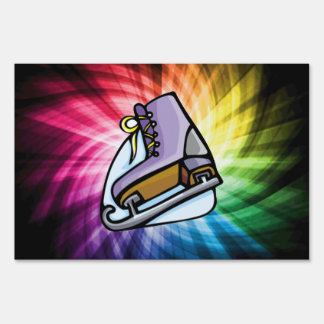 Colorful Ice Skate Sign