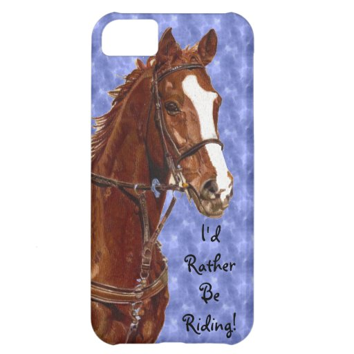 Colorful I'd Rather Be Riding iPhone 5 Case