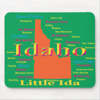 Colorful Idaho State Pride Map Mouse Pad
