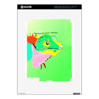 Colorful Iguana iPad 3 Decal