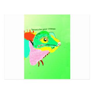 Colorful Iguana Postcard