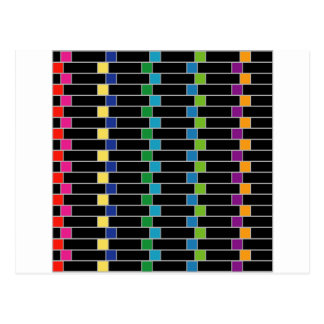 Colorful illusion background postcard