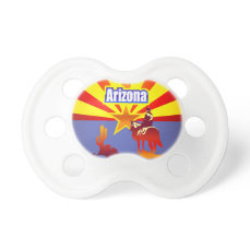 Colorful Illustration With Arizona State Flag Pacifier